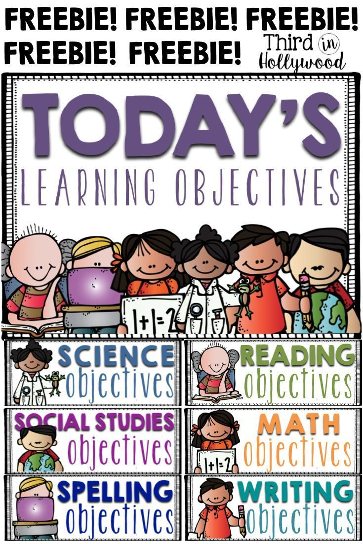 FREEBIE LEARNING OBJECTIVES