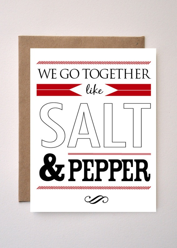 'SALT & PEPPER' Valentines day card