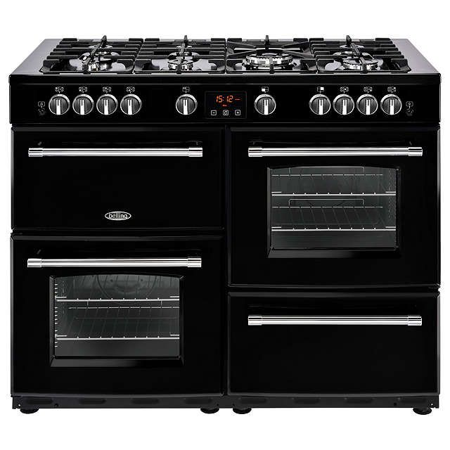 HK £1100 BuyBelling Farmhouse 110G Gas Range Cooker, Black Online at johnlewis.com