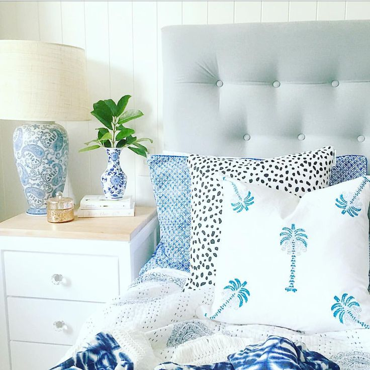 """305 Likes, 19 Comments - Jo (@coastalhomelove) on Instagram: """"S u n d a y S l e e p I n s I can't get enough of pretty cushions.. combo on my bed today by…"""""""
