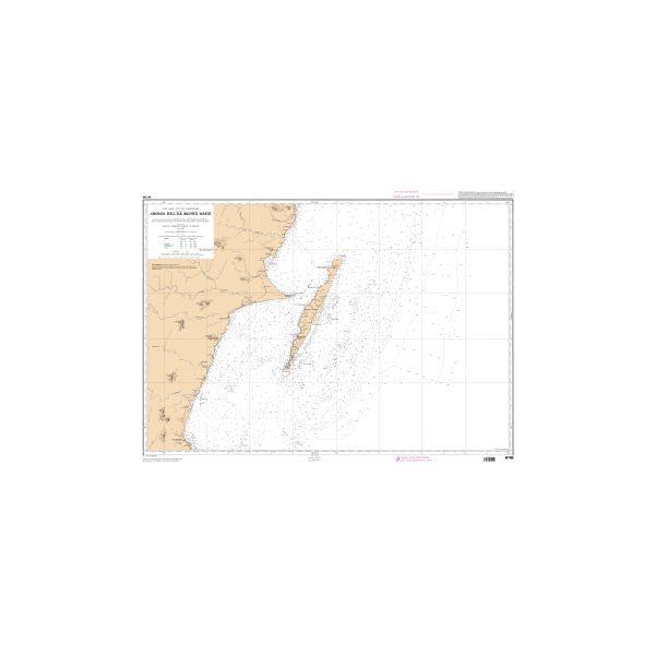 Carte marine Shom 6155 - Abords de l'île Sainte-Marie - carte Shom ...