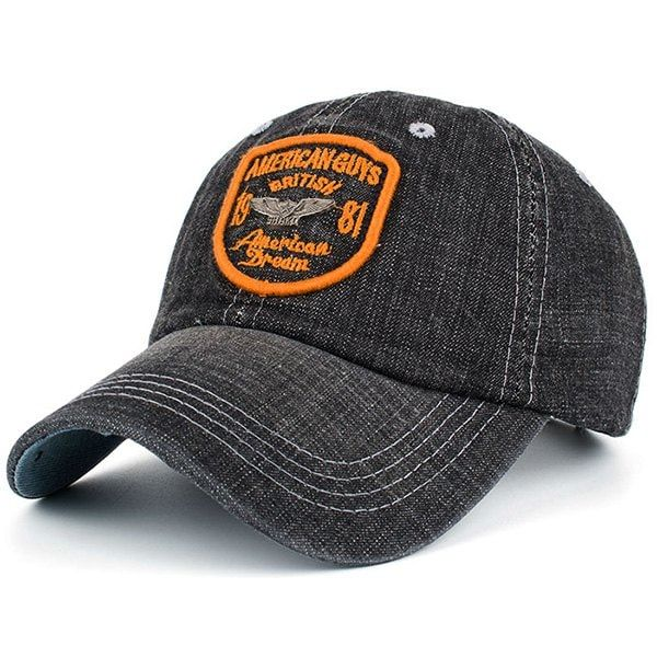 Competitive Orange Yellow Hats Online Gamiss Offers You Denim Letters Badge Patchwork Baseball Hat At 7 85 We A Baseball Hats Trendy Hat Baseball Sunglasses