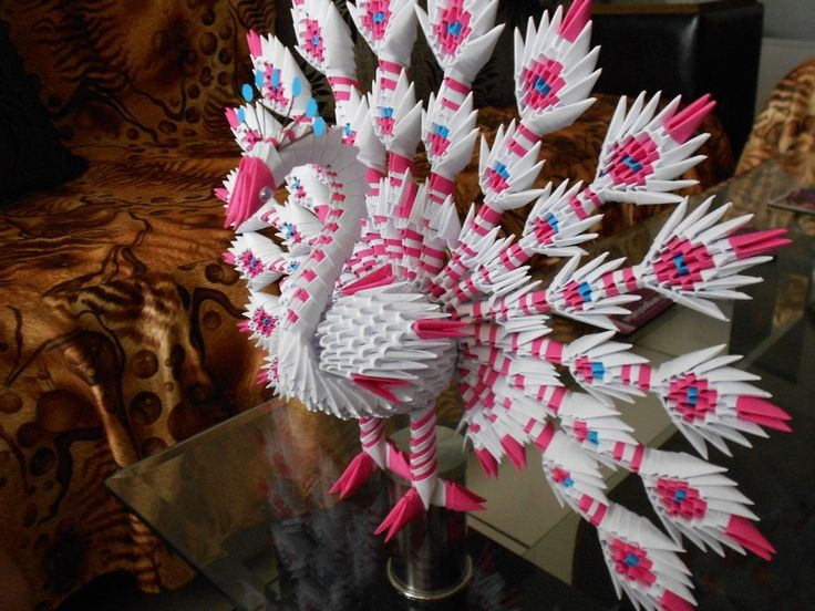 PICASA ORIGAMI 3 D | 3d origami Peacocks Beautiful Peacock's »