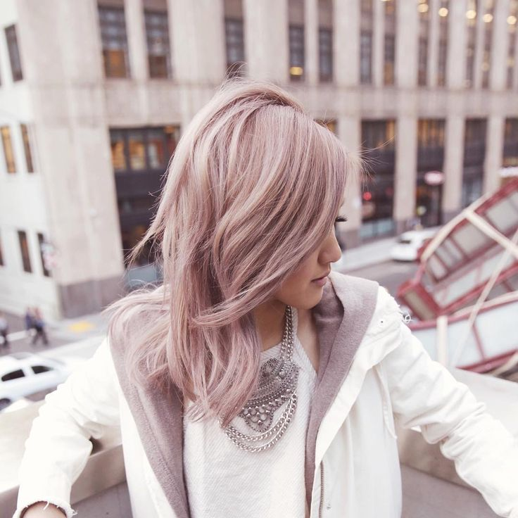 Antique Rose Gold Hair