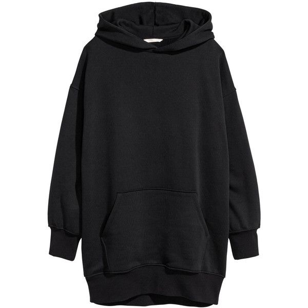 Oversized Hooded Top $49.99 ($50) ❤ liked on Polyvore featuring tops, hoodies, dresses, h&m, sweatshirts, long sleeve hoodie, drop-shoulder tops, oversized hooded sweatshirt, hooded pullover and oversized hood hoodie