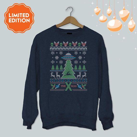 The X Mas / Ugly Christmas Sweater / Reindeer meets UFO