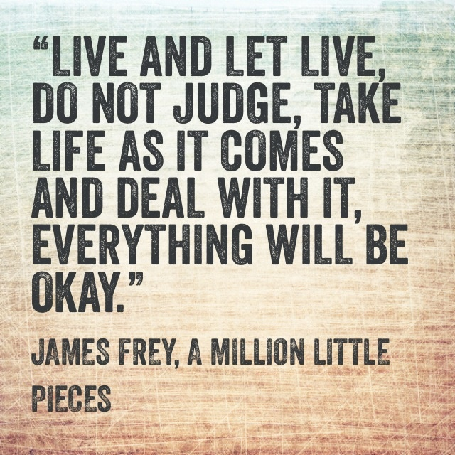 A Million Little Pieces--Leonard's very sage advice !