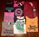 Ladies Harley Davidson T-Shirts  Lot of 7 - Size XL