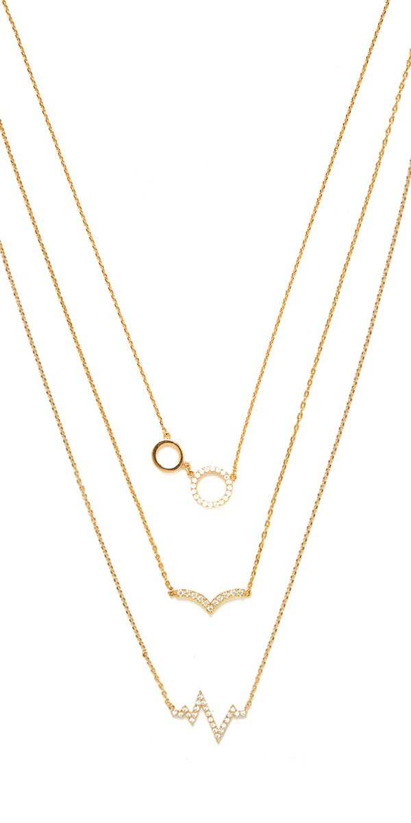 delicate pieces that add just the right amount of sparkle. pick a favorite or pile them on for a perfect layered look