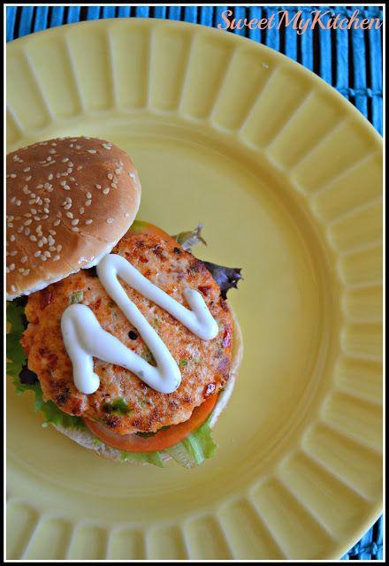 Sweet my Kitchen: Hamburguer de salmão
