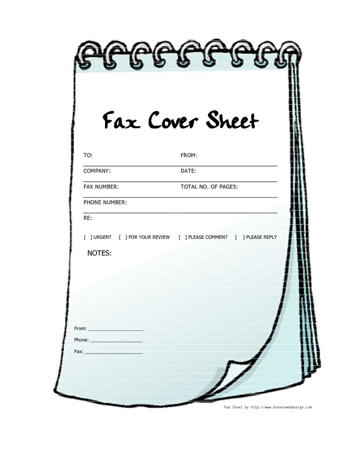 Free Printable Fax Cover Sheets | Free Printable Fax Cover Sheet Template Notebook - PDF