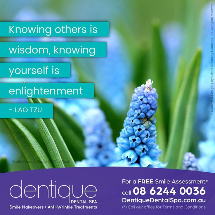 #InspirationalQuote — Knowing others is wisdom, knowing yourself is enlightenment. –Lao Tzu / For a Free Smile Assessment*, please call 08 6244 0036 - www.dentiquedentalspa.com.au / (*) Please call our office for Terms & Conditions. #SmileDocs #SmileDeals #drfurlan #dentiquedentalspa #dental #practice #cosmetic #tmj #invisalign #whitening #filler #dentist #anti #wrinkle #skincare #dermal #lip #fillers #porcelain #crowns #veneers #implants #clear #braces #teeth #treatments #chemical #peels