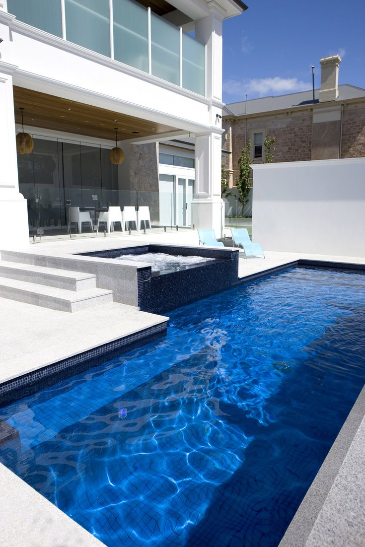 Santorini large format glass tiles with Bisazza Italian glass tile line and spa.