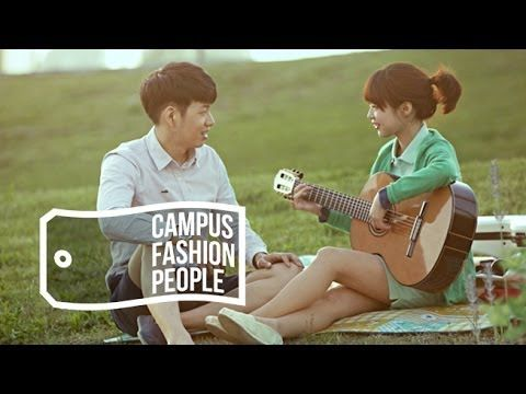 'So-Keun' couple is a star on Facebook that has a hundred thousand followers. This cute couple show's their reality music life and couple campus look.  Let's have a look of their looks using basic items that anyone can have in their closet.
