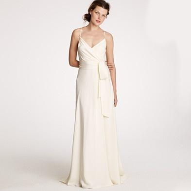 Goddess Gown In Silk Tricotine 575 JCrew Wedding Dress