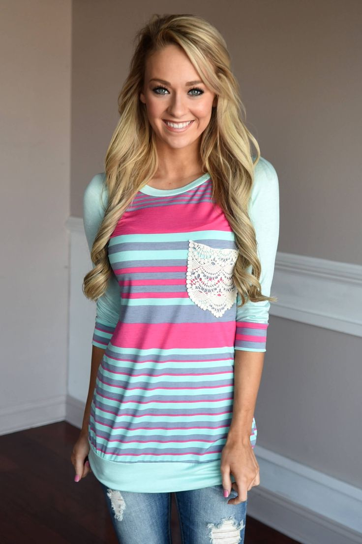 Mint & Pink Neon Top – The Pulse Boutique