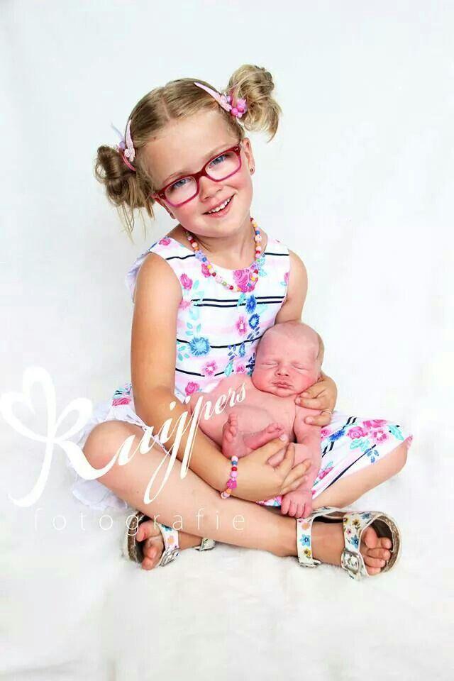 Newborn with big sister
