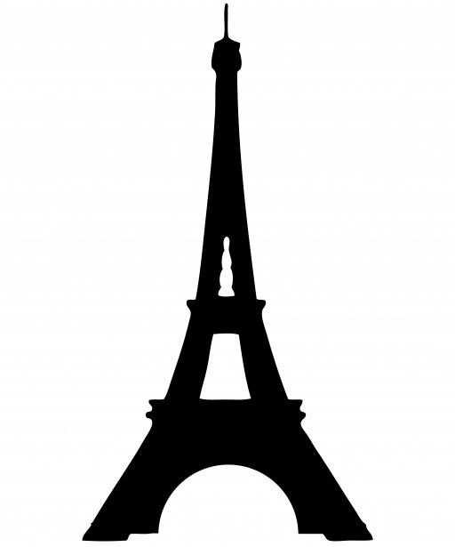Eiffel Tower Silhouette Clipart Free Stock Photo - Public Domain Pictures