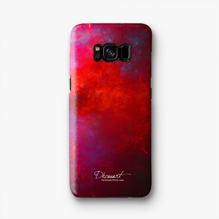 Abstract Red Samsung S8 Case, Samsung S8 Plus Case S486B