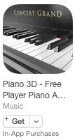 "Alternative für ""Synthesia"" – ""Piano 3D"" by Stefan Gisler | posted in: 0. Instrumente, 0a. Tasteninstrumente, 2. Musik lernen, Apple (iOS), Apps, Klavier, Midi, Piano | 0"