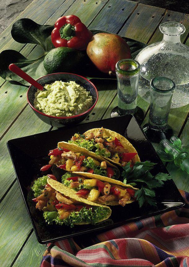mexikanische tacos mit avocado dip rezept k chenk nste. Black Bedroom Furniture Sets. Home Design Ideas