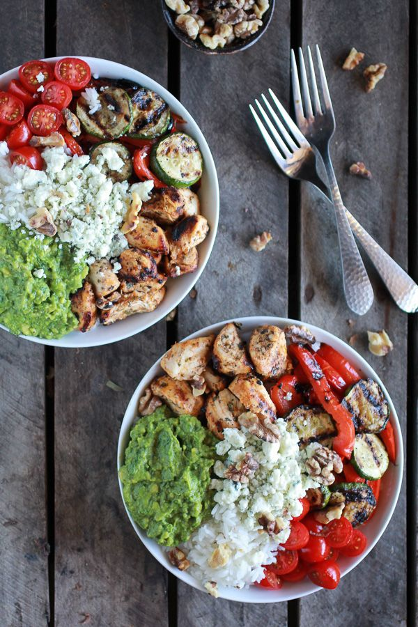 California Chicken, Veggie, Avocado and Rice Bowls | halfbakedharvest.com
