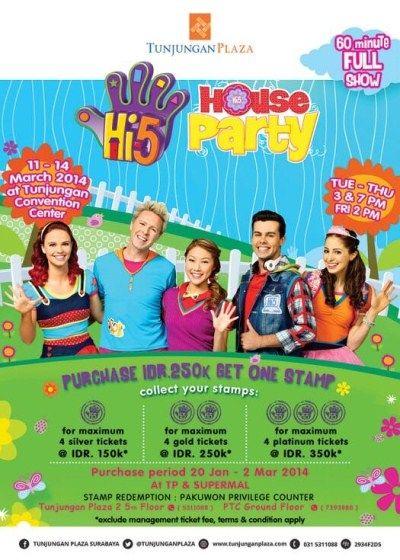 "AYO DATANG SEGERA !! ""Hi-5 House Party"" presented by @TUNJUNGANPLAZA | 11–14 Mar '14"