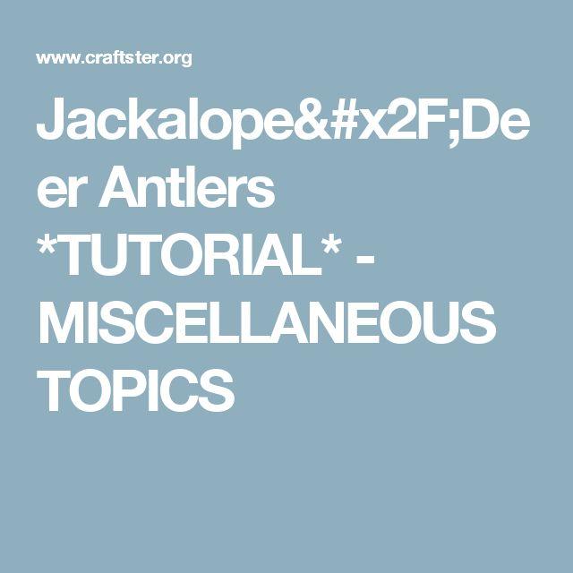 Miscellaneous Topics