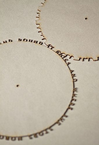 Typographic Gears by Quasimondo. This would be an awesome Graphic Design project