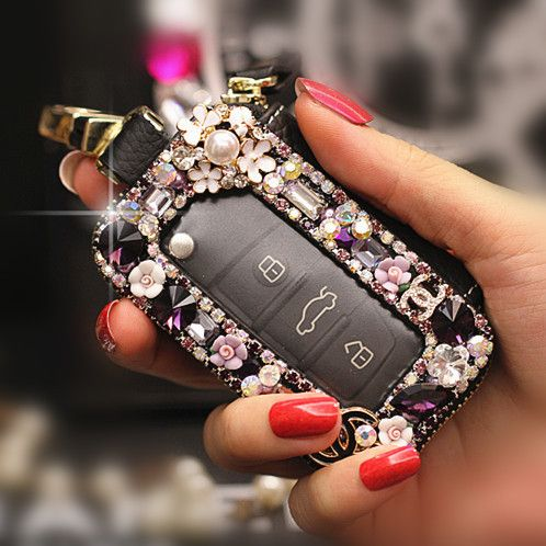 Bling Car Key Holder with Rhinestones - Carsoda - 1