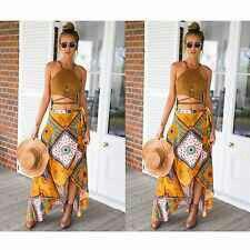Maxi skirt outfit yellow tan