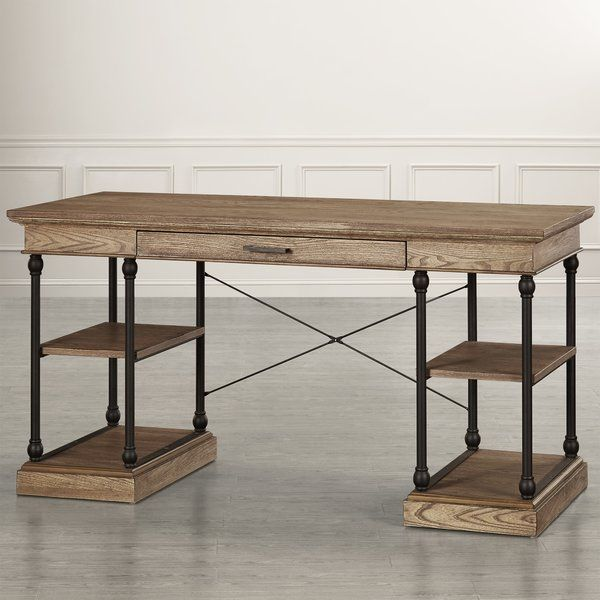 Poynor Solid Wood Desk Solid Wood Desk Wood Desk Solid Wood Writing Desk