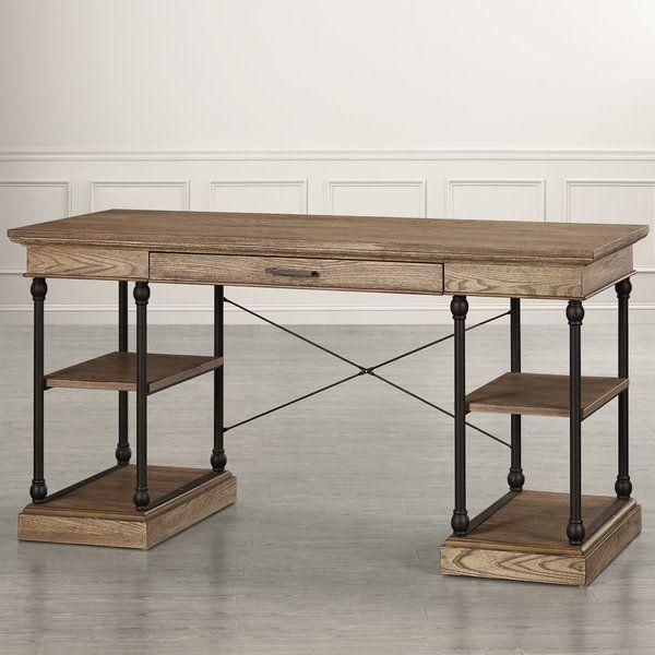Kinney Solid Wood Desk Solid Wood Desk Wood Writing Desk Wood Desk