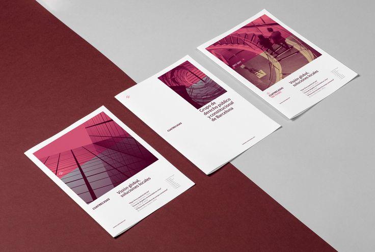 Brochures designed for Cuatrecasas by Mucho Design #stationary #print #printdesign #letterhead #identity #folder #flyer #brochure #branding #visualidentity #corporatedesign #graphicdesign #businesscard #visualbranding #letterpress #letterpress #editorial #visualdesign