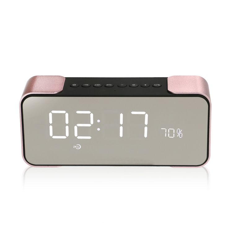 Fashion Metal Steel Bluetooth Speaker HIFI Mirror LED Stereo Subwoofer Bass Alarm Clock FM Radio Amplifier Caixa De Som Portatil -  Compare Best Price for Fashion metal steel Bluetooth speaker HIFI Mirror LED stereo subwoofer bass Alarm Clock FM Radio Amplifier caixa de som portatil product. We provide the information of finest and low cost which integrated super save shipping for Fashion metal steel Bluetooth speaker HIFI Mirror LED stereo subwoofer bass Alarm Clock FM Radio Amplifier caixa…