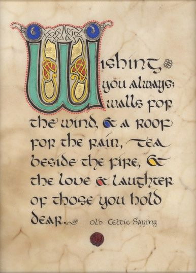 Old Irish Sayings | Old Celtic Saying / Artist: Kevin Dillon | Irish/Scot