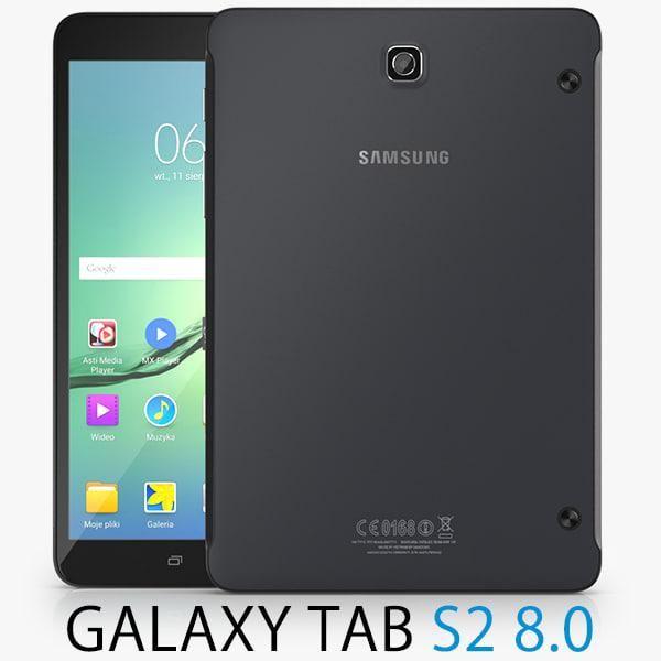 Samsung Galaxy Tab S2 8 0 Inch Black 3d Model Ad Tab Samsung Galaxy Black 3d Renders Vray Samsung Tabs Samsung Samsung Galaxy
