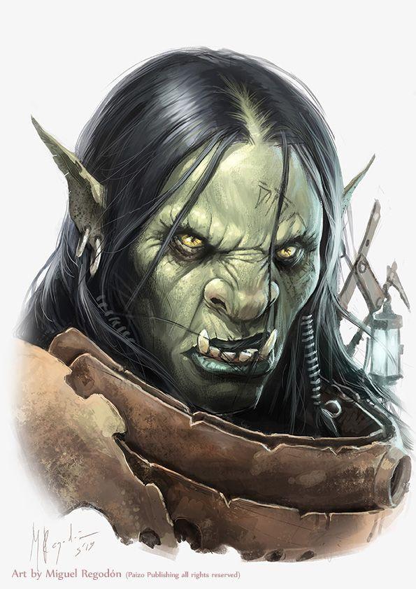 Half Orc Portrait 180 best Orcs f...