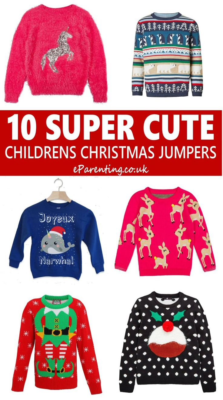 It just wouldn't be Christmas without a Christmas jumper, so here are the cutest Christmas jumpers for babies and kids. #christmasjumper #kidschristmasjumper #christmas #childenschristmasjumper #christmasfashion