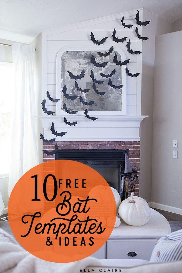 Free Bat Templates and Halloween Decor Ideas Halloween Pinterest - pinterest halloween decor ideas
