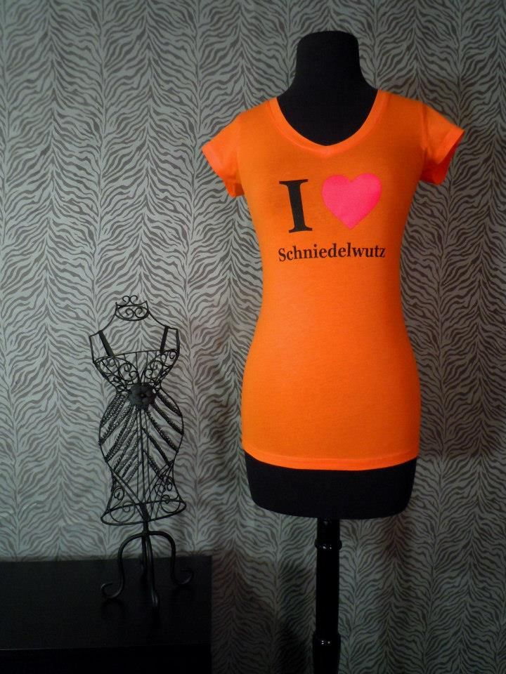 Orange W Black Text Sizes S, M, L 92 Cotton, 8 Spandex -9850