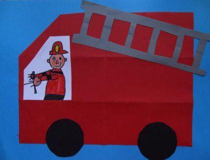 Dit knutselwerkje is maar 1 van de vele die we hebben in het thema brandweer…