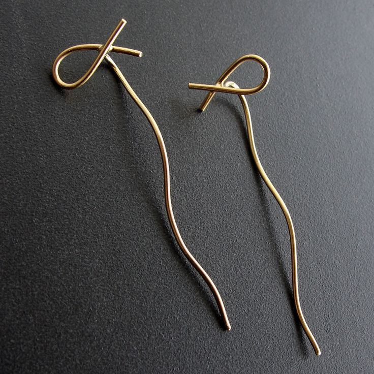 Emmanuela.gr - Handmade Gold Plated Fish Earrings