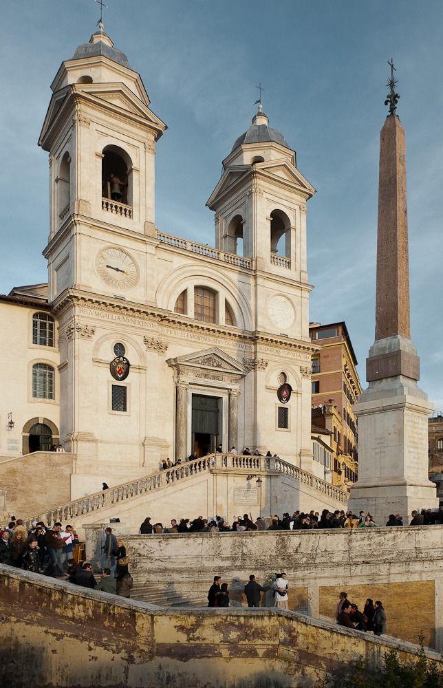 Santissima Trinita dei Monti, Rome, Italy (Spanish Steps)