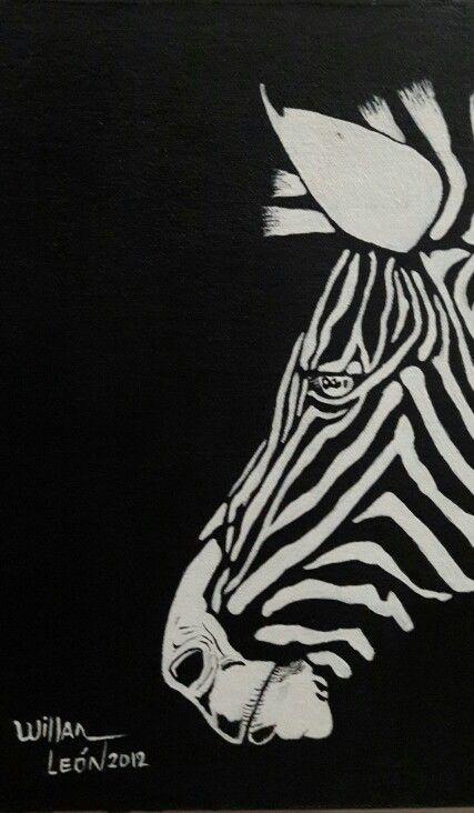 Cebra. Acrilico por Willan León año 2012