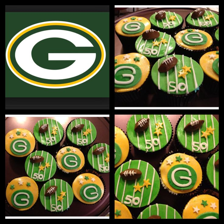 Greenbay Packers cupcakes