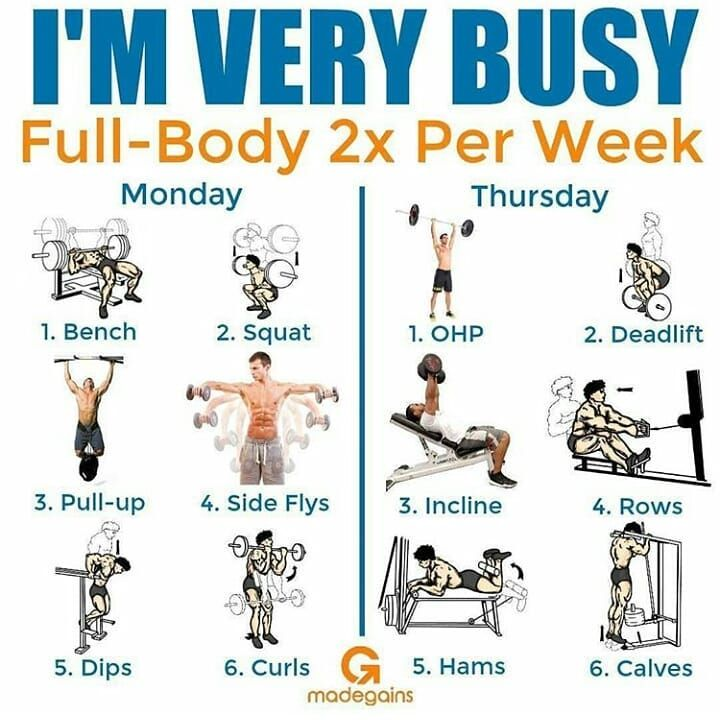 I M Very Busy Full Body 2x Per Week Workout Courtes Fitness Body Full Body Program Workout
