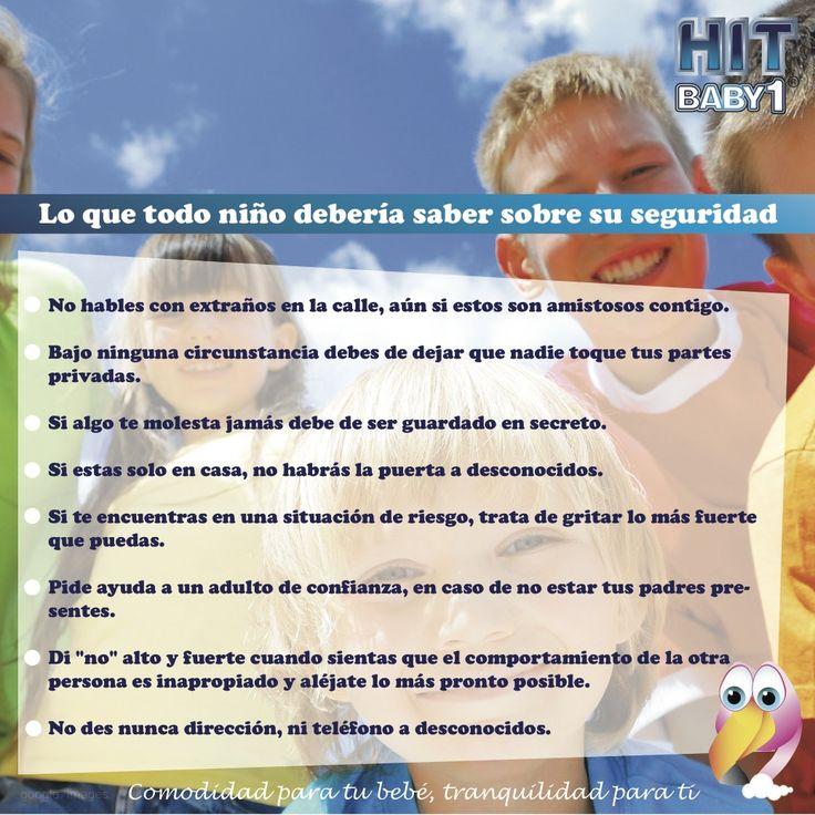 Lo que todo niño debería saber sobre su seguridad. #niños #seguridad #reglas #normas #desconocidos