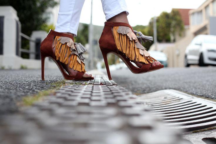 ZARA fringe sandals #ZARA