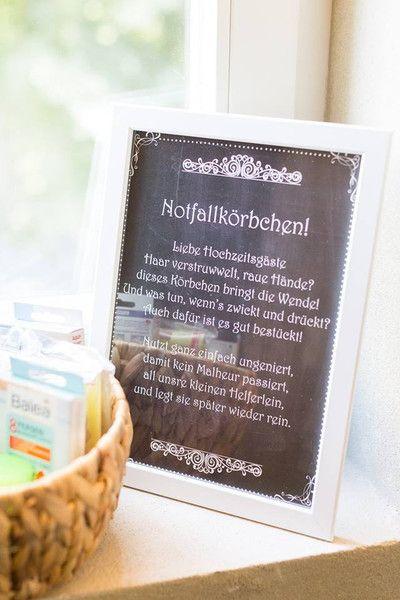 """Gastgeschenke - PDF Datei """"Notfallkörbchen"""" chalkboard - ein Designerstück von Vintagelaedchen bei DaWanda"""